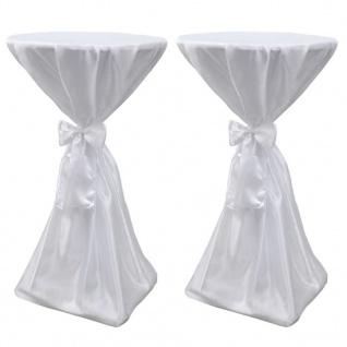 2 x Tischhusse Stehtischhusse weiß 70 cm