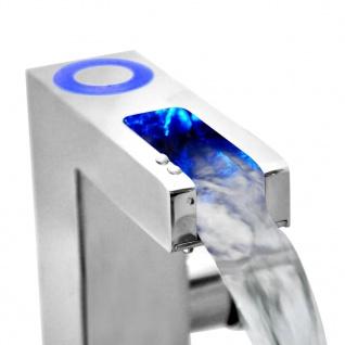 SCHÜTTE Mischbatterie mit LED und Wasserfall-Auslauf ORINOCO Verchromt - Vorschau 4