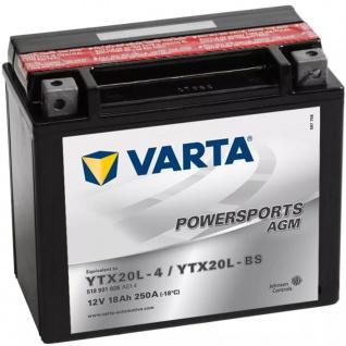 VARTA Powersports Motorradbatterie AGM YTX20L-4 / YTX20L-BS