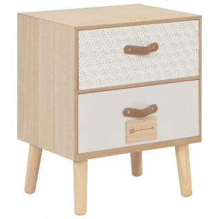 vidaXL Nachttisch mit 2 Schubladen 40x30x49, 5 cm Massivholz Kiefer