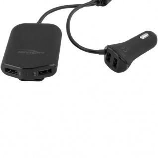Ansmann Auto-USB-Ladegerät mit 4 Ports 496 9, 6A 1000-0017