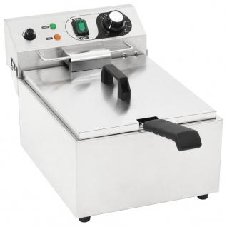 vidaXL Elektro-Fritteuse Edelstahl 10 L 3000 W