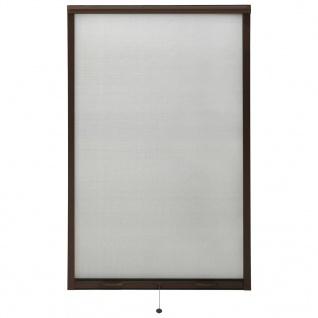 vidaXL Insektenschutzrollo für Fenster Braun 100x170 cm