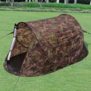 vidaXL 2-Personen Pop-Up-Zelt Camouflage