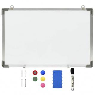 vidaXL Magnetisches Whiteboard Weiß 50 x 35 cm Stahl