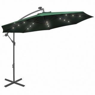 vidaXL Sonnenschirm Ampelschirm mit LED-Beleuchtung 300 cm Metallmast