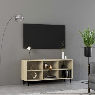vidaXL TV-Schrank mit Metallbeinen Sonoma-Eiche 103, 5x30x50 cm