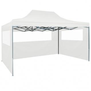 vidaXL Faltbares Partyzelt mit 3 Seitenwänden 3 x 4, 5 m Weiß