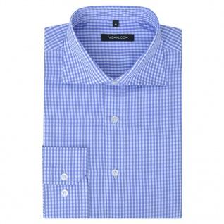 vidaXL Herren Business-Hemd weiß und hellblau kariert Gr. L