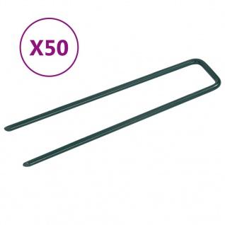 vidaXL Nägel für Kunstrasen 50 Stk. U-Form Eisen