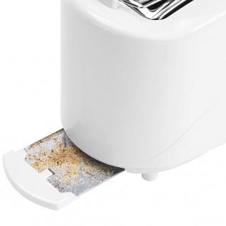Bestron Toaster mit Brötchenwärmer AYT600 750 W Weiß - Vorschau 4