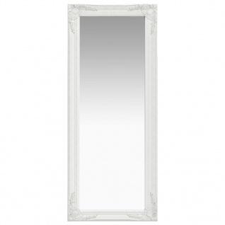 vidaXL Wandspiegel im Barock-Stil 50 x 120 cm Weiß