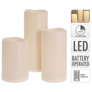 Ambiance 3-tlg. LED-Kerzen-Set mit Fernbedienung