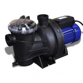 Schwimmbadpumpe Umwälzpumpe Poolpumpe Pumpe elektronik blau 1200W