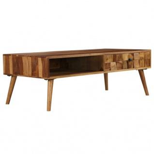 vidaXL Couchtisch Massivholz mit Honig-Finish 110x50x37 cm
