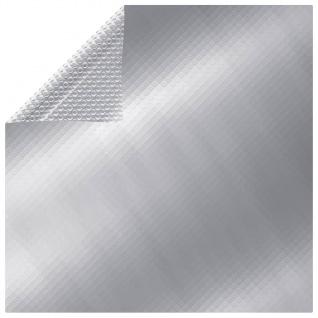vidaXL Poolabdeckung Silbern 488x244 cm PE