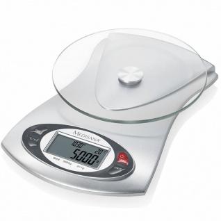 Medisana digitale Küchenwaage KS 220 Glas 5 kg 40467