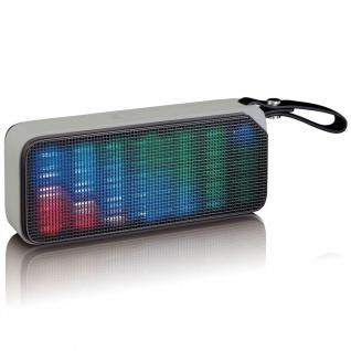 Lenco Bluetooth Stereo Lautsprecher/Diskolicht BT-191 Schwarz