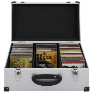 vidaXL CD-Koffer für 60 CDs Aluminium ABS Silbern