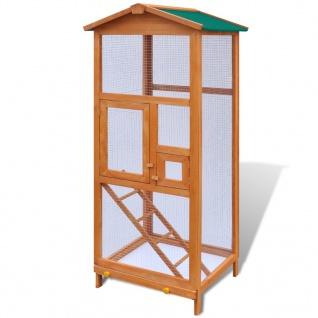 vidaXL Vogelkäfig Holz 65x63x165 cm