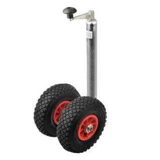 ProPlus Doppel-Stützrad Kunststofffelge +luftgefüllten Reifen 341508