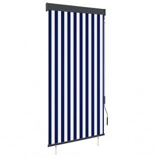 vidaXL Außenrollo 100 x 250 cm Blau und Weiß