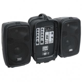 "SHOWGEAR Tragbare Stereo-Lautsprecher Combo 8 Schwarz 8"" 935000"