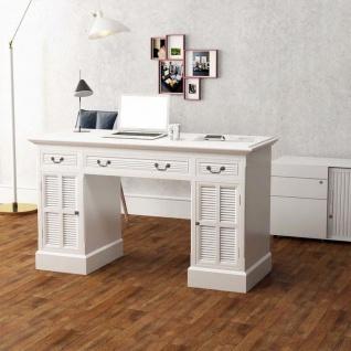 vidaXL Schreibtisch Sekretär Weiß 140 x 48 x 80 cm