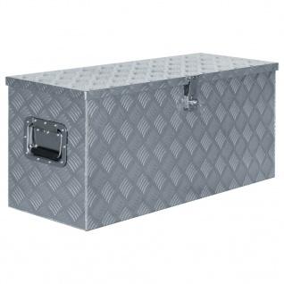 vidaXL Aluminiumkiste 90, 5×35×40 cm Silbern