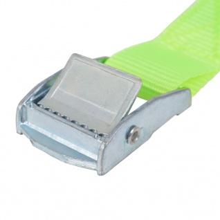 vidaXL Spanngurte 10 Stk. 0, 25 Tonnen 5m×25mm Neongrün - Vorschau 4