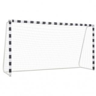 vidaXL Fußballtor 300 x 160 x 90 cm Metall Schwarz und Weiß