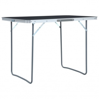 vidaXL Klappbarer Campingtisch Grau Aluminium 120 x 60 cm