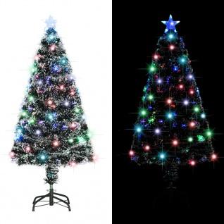 vidaXL Künstlicher Weihnachtsbaum mit Ständer/LED 120 cm 135 Zweige