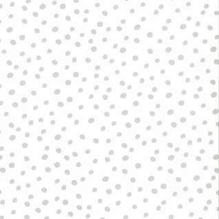 Fabulous World Tapete Dots Weiß und Grau 67106-1
