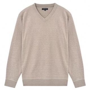 vidaXL Herren Pullover Sweater V-Ausschnitt Beige L