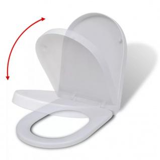 vidaXL Toilettensitz mit Absenkautomatik Quadratisch Weiß