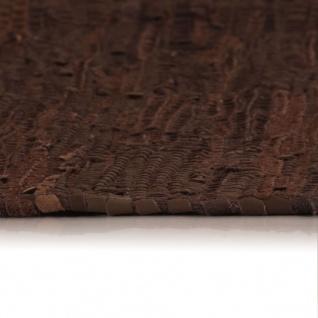 Vidaxl Handgewebter Chindi Teppich Leder 120 X 170 Cm Braun Kaufen