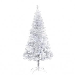 vidaXL Künstlicher Weihnachtsbaum mit Ständer Silbern 152 cm PET