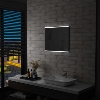 vidaXL Badezimmer-Wandspiegel mit LED und Touch-Sensor 60 x 50 cm