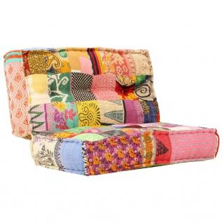 vidaXL Sofa 100×100×20 cm Stoff Patchwork