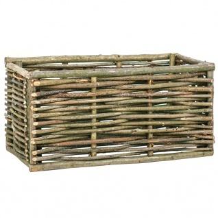 vidaXL Garten-Hochbeet 80x40x40 cm Haselnussholz