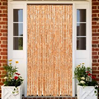vidaXL Insektenschutz-Vorhang Ocker und Weiß 100x220 cm Chenille