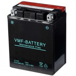 VMF Powersport Liquifix Batterie 12 V 12 Ah MF YTX14AH-BS