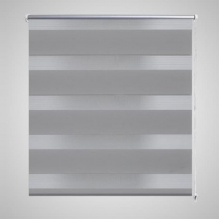 Doppelrollo Seitenzug 120 x 175 cm grau