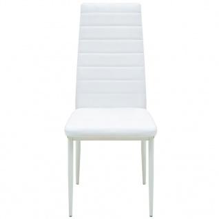 vidaXL 5-tlg. Essgarnitur Esstisch mit Stühlen - Vorschau 5