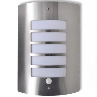 Edelstahl-Wandlampe mit dem Bewegungsmelder