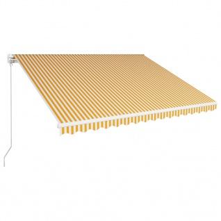 vidaXL Einziehbare Markise Handbetrieben 400 x 300 cm Gelb und Weiß