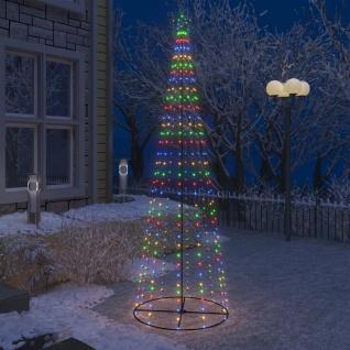 vidaXL Weihnachtskegelbaum 330 Bunte LEDs Dekoration 100x300 cm