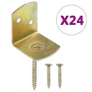 vidaXL Flechtzaunhalter 24 Stk. L-Form Verzinktes Metall