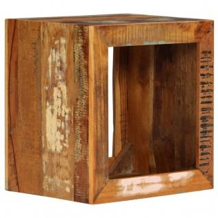 vidaXL Hocker 40 x 30 x 40 cm Recyceltes Massivholz